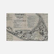 Vintage Nantucket Map Rectangle Magnet