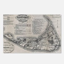 Vintage Nantucket Map Postcards (Package of 8)
