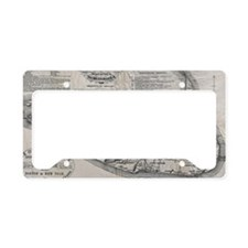 Vintage Nantucket Map License Plate Holder