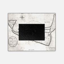 Vintage Map of Nantucket (1782) Picture Frame
