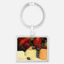 Mixed Fruit Landscape Keychain