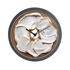 Bagel with Cream Cheese Wall Clock