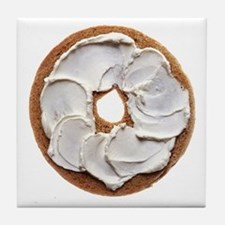 Bagel with Cream Cheese Tile Coaster