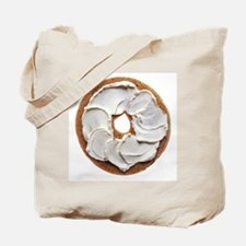 Bagel with Cream Cheese Tote Bag