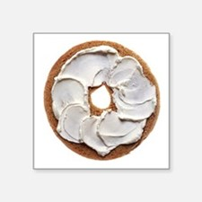 "Bagel with Cream Cheese Square Sticker 3"" x 3"""