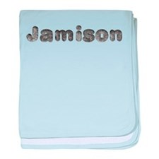 Jamison Wolf baby blanket