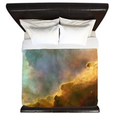 galaxy nebula space clouds pastel stars King Duvet