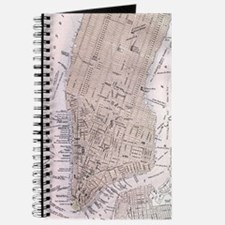 Vintage Map of New York City (1884) Journal