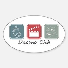 Drama Club (Squares) Oval Decal