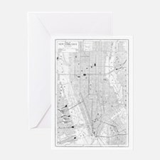 Vintage Map of New York City (1911) Greeting Card
