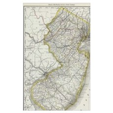 Vintage Map of New Jersey (1889) Poster