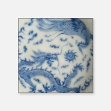 """blue and white chinoiserie  Square Sticker 3"""" x 3"""""""