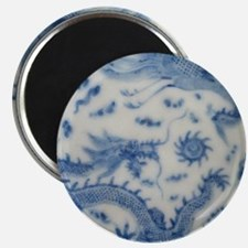 blue and white chinoiserie delft vintage ch Magnet
