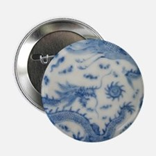 """blue and white chinoiserie delft vint 2.25"""" Button"""