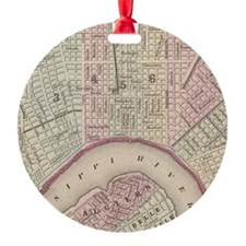 Vintage Map of New Orleans (1880) Ornament