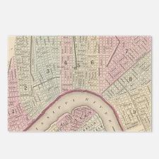 Vintage Map of New Orlean Postcards (Package of 8)