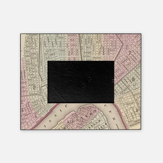 Vintage Map of New Orleans (1880) Picture Frame
