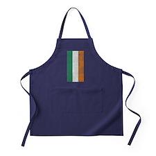 Distressed Irish flag Apron (dark)