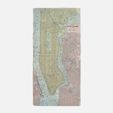 Vintage Map of New York City (1901) Beach Towel