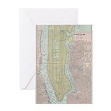 Vintage Map of New York City (1901) Greeting Card