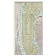 Vintage Map of New York City (1901) Canvas Art