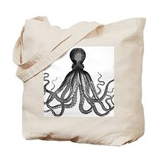 vintage kraken octopus sea creature monst Tote Bag