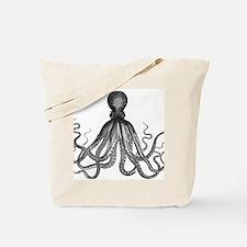 vintage kraken octopus sea creature monst Tote Bag
