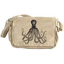 vintage kraken octopus sea creature  Messenger Bag