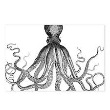 vintage kraken octopus se Postcards (Package of 8)