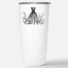 vintage kraken octopus  Stainless Steel Travel Mug
