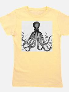 vintage kraken octopus sea creature mon Girl's Tee