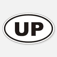 UP Upper Penninsula Euro Oval Decal