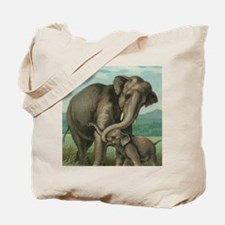 vintage elephant baby elephants cute moth Tote Bag
