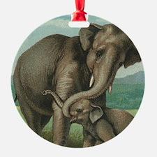vintage elephant baby elephants cut Ornament