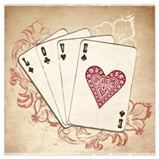 Love Playing Cards Poster