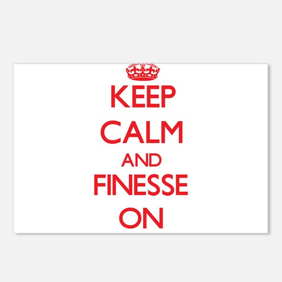 Keep Calm and Finesse ON Postcards (Package of 8)
