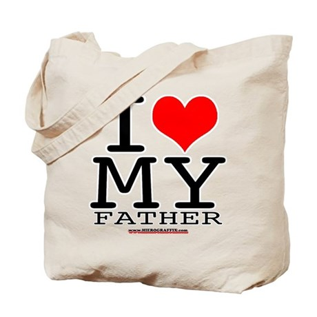 I LUV MY FATHER Tote Bag