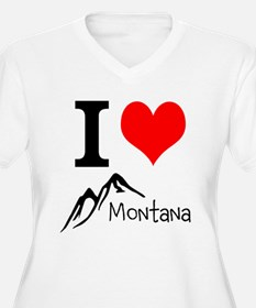 I heart Montana Plus Size T-Shirt