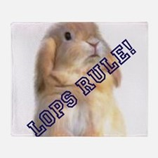 Lops Rule Throw Blanket