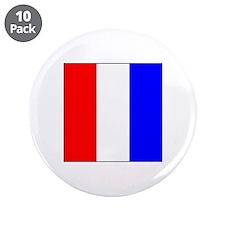 "ICS Flag Letter T 3.5"" Button (10 pack)"