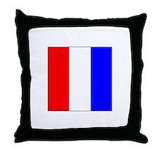 ICS Flag Letter T Throw Pillow