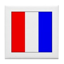 ICS Flag Letter T Tile Coaster