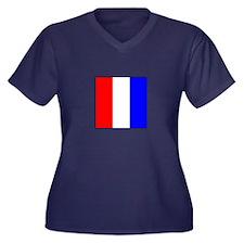 ICS Flag Letter T Plus Size T-Shirt