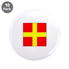 "ICS Flag Letter R 3.5"" Button (10 pack)"