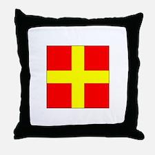 ICS Flag Letter R Throw Pillow