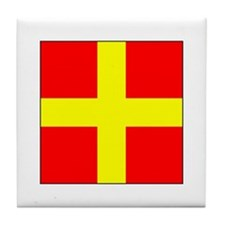 ICS Flag Letter R Tile Coaster