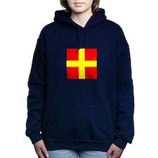 ICS Flag Letter R Women's Hooded Sweatshirt
