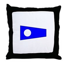 Pennant Flag Number 2 Throw Pillow