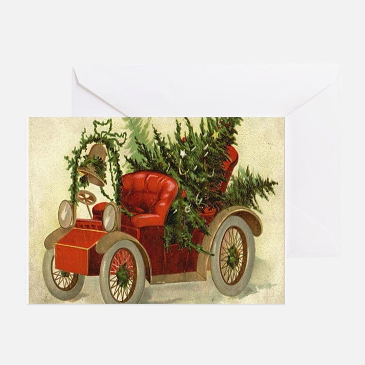 Christmas Model A Greeting Cards (Pk of 10)