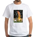Fairies & Pug White T-Shirt